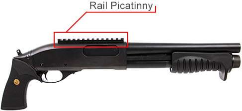 fusil a pompe m870 breacher gaz full metal noir tokyo marui 620101 rail picatinny airsoft 1