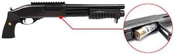 fusil a pompe m870 breacher gaz full metal noir tokyo marui 620101 trappe de rechargement airsoft 1