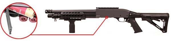 fusil a pompe secutor velites v ferrum s series spring grey sav0024 cartouches airsoft 1 optimized