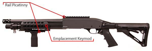 fusil a pompe secutor velites v ferrum s series spring grey sav0024 rail picatinny keymod airsoft 1 optimized