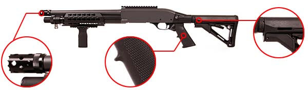 fusil a pompe secutor velites v ferrum s series spring olive sav0025 confort airsoft 1 optimized