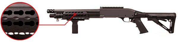 fusil a pompe secutor velites v ferrum s series spring-tan sav0026 rail keymod airsoft 1 optimized