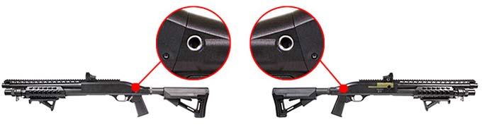 Fusil a Pompe Secutor Velites V GOLD S Series Spring Noir SAV0017 attache qd airsoft 1 optimized