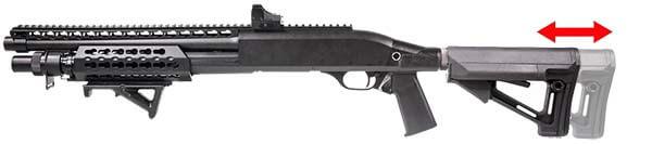 Fusil a Pompe Secutor Velites V GOLD S Series Spring Noir SAV0017 crosse retractable airsoft 1