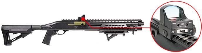 Fusil a Pompe Secutor Velites V GOLD S Series Spring Noir SAV0017 red dot sight airsoft 1
