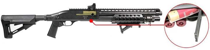 Fusil a Pompe Secutor Velites V GOLD S Series Spring Noir SAV0017 trappe cartouche rechargement airsoft 1