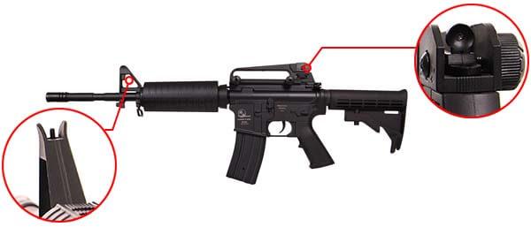 fusil armalite carbine m15 a4 m4a1 sportline aeg noir 17356 organes de visee airsoft 1 optimized