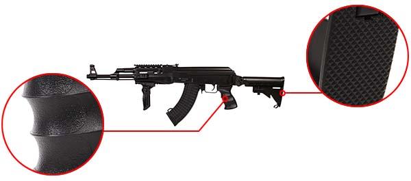 fusil arsenal ar m7t m4 ak47 aeg electrique asg noir 19056 confort airsoft 1