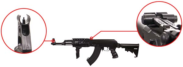 fusil arsenal ar m7t m4 ak47 aeg electrique asg noir 19056 organes de visee airsoft 1