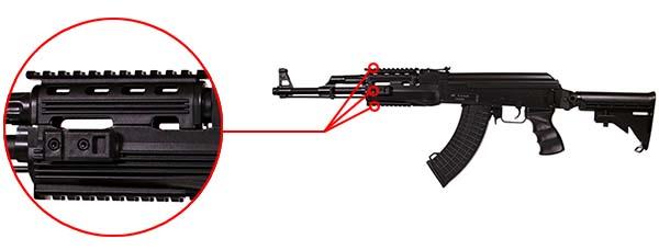fusil arsenal ar m7t m4 ak47 aeg electrique asg noir 19056 rails picatinny airsoft 1
