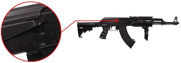 fusil arsenal ar m7t m4 ak47 aeg electrique asg noir 19056 selecteur de tir airsoft 1