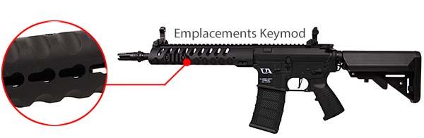 fusil ca4 delta 12 classic army noir rail