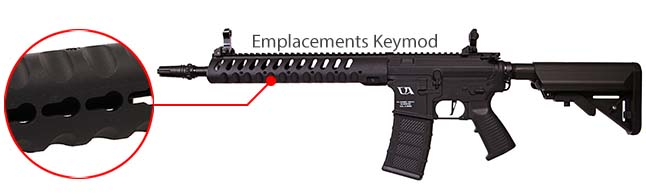 fusil ca4 delta 12 classic army noir rail keymod