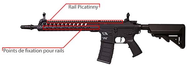 fusil ca4 delta 12 classic army noir rails