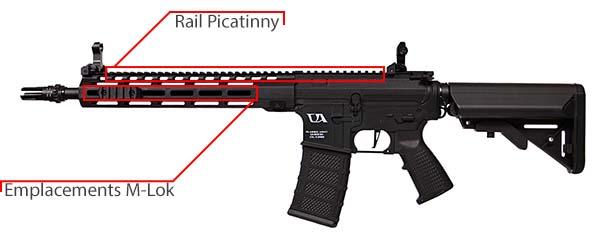 fusil ca4 mlok 12 classic army noir 6