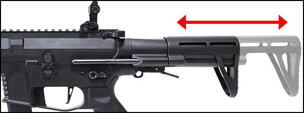 fusil ca nemesis x9 aeg smg full metal classic army noir ca1119m crosse retractable airsoft 1 optimized