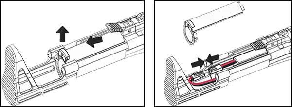 fusil ca nemesis x9 aeg smg full metal classic army noir ca1119m insertion batterie airsoft 1 optimized