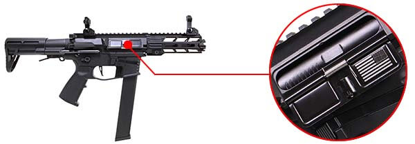 fusil ca nemesis x9 aeg smg full metal classic army noir ca1119m marquage airsoft 1 optimized