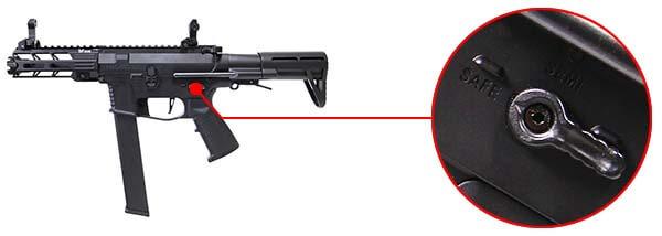 fusil ca nemesis x9 aeg smg full metal classic army noir ca1119m selecteur de tir airsoft 1 optimized