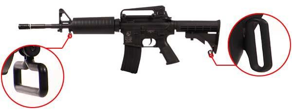 fusil carbine colt m4a1 m4 a1 electrique aeg noir 180800 attache sangle airsoft 1 optimized