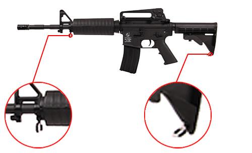 fusil colt m4 a1 aeg full metal noir 180865 5