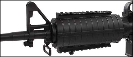 fusil colt m4 a1 aeg king arms ultra grade nylon fibre 180979 lot rails picatinny airsoft 1 optimized