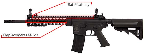 fusil colt m4 special forces aeg polymere noir 180861 picatinny keymod airsoft 1 optimized