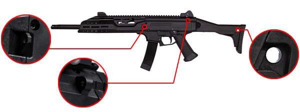 fusil cz scorpion evo 3a1 3 a1 carbine ceska zbrojovka aeg asg 18673 fixation sangle airsoft 1 optimized