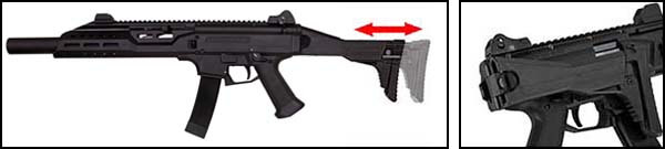 fusil cz scorpion evo 3a1 carbine bet aeg asg silencieux 18694 crosse ajustable airsoft 1 optimized