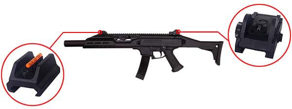 fusil cz scorpion evo 3a1 carbine bet aeg asg silencieux 18694 organes de visee airsoft 1 optimized