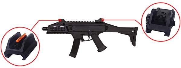 fusil cz scorpion evo 3a1 ceska zbrojovka aeg 17831 organes de visee airsoft 1 optimized