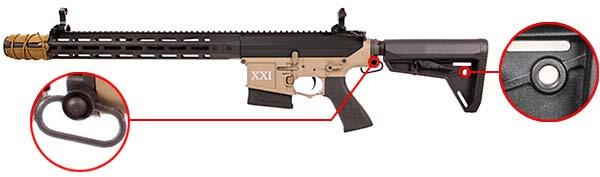 fusil dmr legion rapax xxi m1 aeg secutor noir et tan sax0001 attache sangle airsoft 1 optimized