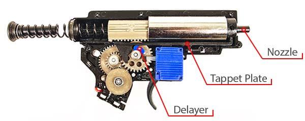 fusil dmr legion rapax xxi m1 aeg secutor noir et tan sax0001 gearbox interne airsoft 1 optimized