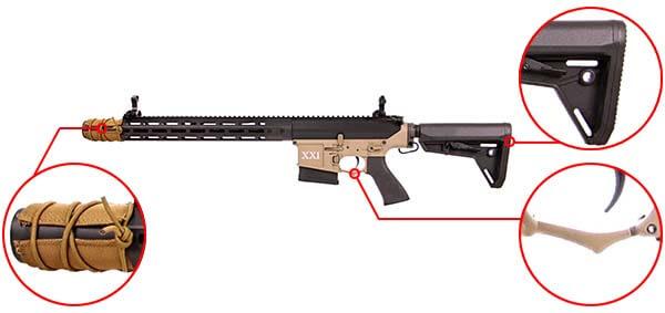 fusil dmr legion rapax xxi m1 aeg secutor noir et tan sax0001 prise en main airsoft 1 optimized