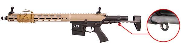 fusil dmr legion rapax xxi m2 aeg secutor tan et noir sax0002 attache sangle airsoft 1 optimized