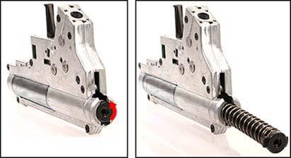 fusil dmr legion rapax xxi m2 aeg secutor tan et noir sax0002 gearbox qd airsoft 1 optimized