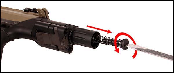 fusil dmr legion rapax xxi m2 aeg secutor tan et noir sax0002 gearbox qd airsoft 2 optimized