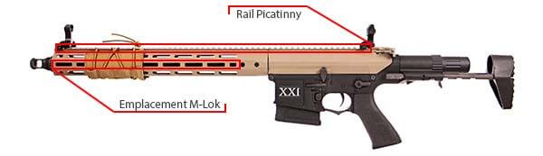 fusil dmr legion rapax xxi m2 aeg secutor tan et noir sax0002 picatinny m lok airsoft 1 optimized