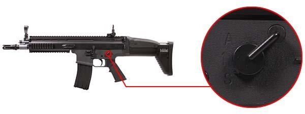 fusil fn herstal scar scar l sportline aeg electrique noir 200961 selecteur de tir airsoft 1 optimized