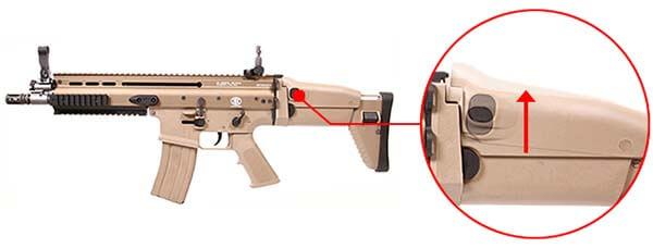 fusil fn scar scar l mk16 open bolt gbbr gaz blowback we tan 200506 appuie joue airsoft 1 optimized