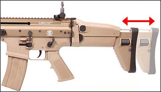 fusil fn scar scar l mk16 open bolt gbbr gaz blowback we tan 200506 crosse retractable airsoft 1 optimized