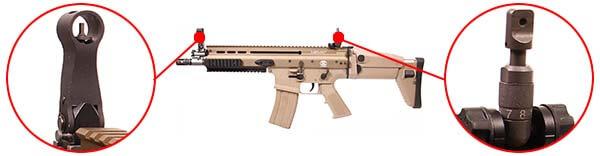 fusil fn scar scar l mk16 open bolt gbbr gaz blowback we tan 200506 organes de visee airsoft 1 optimized