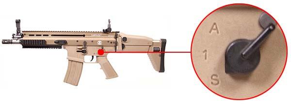 fusil fn scar scar l mk16 open bolt gbbr gaz blowback we tan 200506 selecteur de tir airsoft 1 optimized