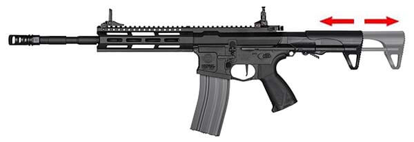 fusil g g cm16 raider l 2 0e m lok pdw aeg noir s13039 crosse retractable airsoft 1 optimized
