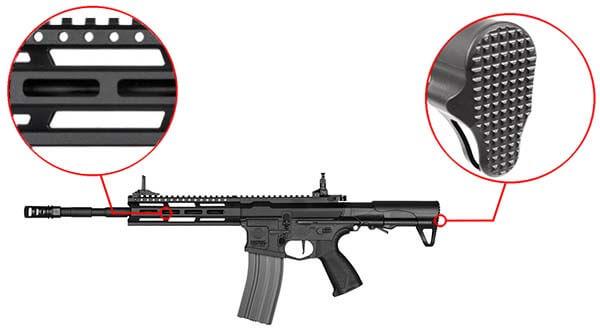 fusil g g cm16 raider l 2 0e m lok pdw aeg noir s13039 garde main mlok revetement crosse airsoft 1 optimized