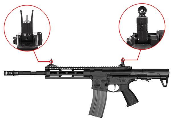 fusil g g cm16 raider l 2 0e m lok pdw aeg noir s13039 organes de visee airsoft 1 optimized