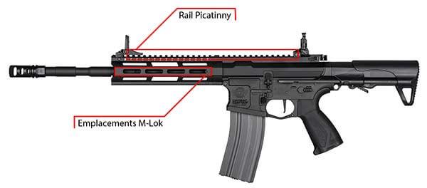 fusil g g cm16 raider l 2 0e m lok pdw aeg noir s13039 rail de montage airsoft 1 optimized