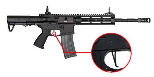 fusil g g cm16 raider l 2 0e m lok pdw aeg noir s13039 speed trigger airsoft 1 optimized