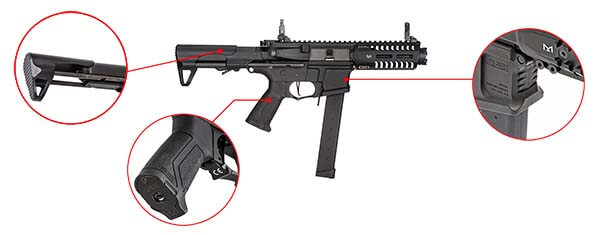 fusil gg cm16 ump arp9 cqb aeg mosfet etu pdw guay guay noir confort airsoft 1 optimized