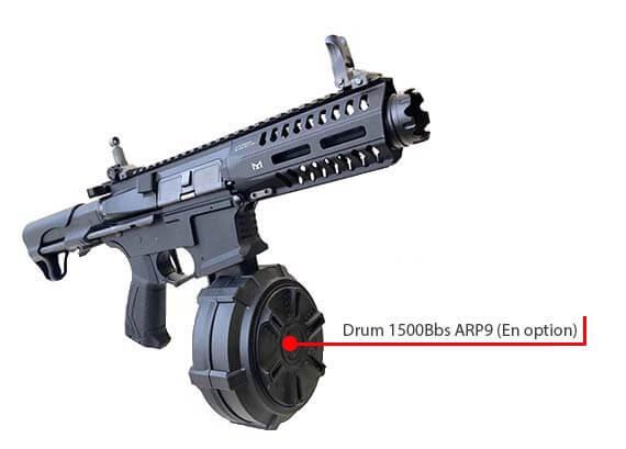 fusil gg cm16 ump arp9 cqb aeg mosfet etu pdw guay guay noir drum airsoft 1 optimized